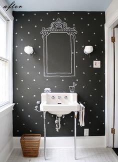 More chalkboard bathroom......