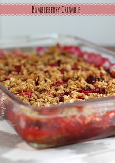 Emily Bites - Weight Watchers Friendly Recipes: Bumbleberry Crumble