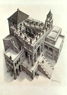 M. C. Escher - Ascendant et descendant