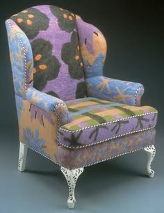 interesting diagonal/bias cording - felted upholstery?