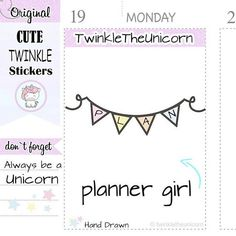 Check out A374 | planning stickers,planner stickers,planner day,addicted stickers,kawaii stickers,unicorn stickers,live planner,erin condren on twinkletheunicorn