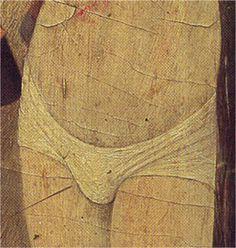 Hacia1450-1455. San Vicente en la hoguera, Jaime Huguet, Retablo de San Vicente de Sarriá, Barcelona, Museo Nacional de Arte de Cataluña, Barcelona (detalle)