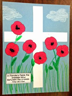 We Remember - a new unit for Veterans Day - savvy teaching tips Remembrance Day Activities, Veterans Day Activities, Remembrance Day Poppy, Art Activities, Remembrance Day Posters, Poppy Craft For Kids, Art For Kids, Fall Crafts, Holiday Crafts