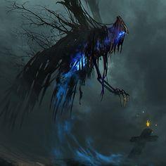 Reaper by ramsesmelendeze on DeviantArt High Fantasy, Dark Fantasy Art, Fantasy Artwork, Fantasy World, Dark Creatures, Mythical Creatures Art, Fantasy Creatures, Monster Concept Art, Monster Art