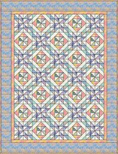 Free Quilt Patterns for Beginning to Experienced Quilters: Spring Pinwheels Quilt Pattern