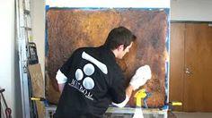 Copper Faux Finish - YouTube