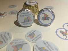 Dumbo Baby Shower Stickers Hershey Kiss by MyKraftygoodness