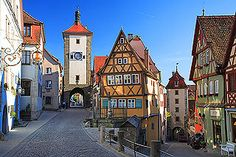 Plönlein Fork, Rothenburg, Germany, a famous landmark of Rothenburg ob der Tauber Germany
