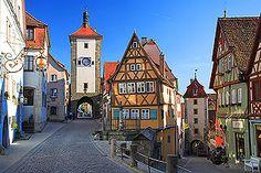 Plönlein Fork, Rothenburg, Germany, a famous landmark of Rothenburg ob der Tauber Germany