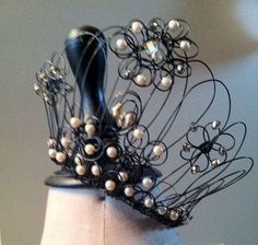 Hand Wired Custom Crown with Intricate Wiring using Vintage Elements - Cherish Designs by Kris Lanae, Everyone Needs A Crown on Etsy, $225.00
