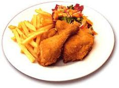 pollo frito con papas