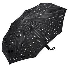 9335f116899d PLEMO Ombrello Nero Classico Pioggia Pieghevole 45.3