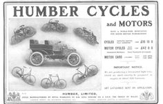 1903 ad: Humber Cycles and Motors