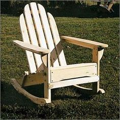 Adirondack rocking chair at www.coolpointlanding.com
