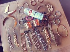 XPPINKX: Gloss cheap jewelry to keep from turning colors & to make hypoallergenic too