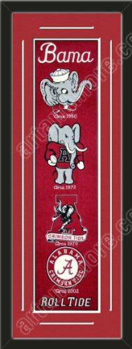 Heritage Banner Of Alabama Crimson With Team Color Double Matting-Framed Awesome & Beautiful-Must For A Championship Team Fan! Most NCAA Team Banners Available-Plz Go Through Description & Mention In Gift Message If Need A different Team Art and More, Davenport, IA http://www.amazon.com/dp/B00F42J7FS/ref=cm_sw_r_pi_dp_szJJub05RXAX1