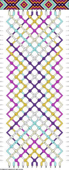 #60266 - friendship-bracelets.net  12 fils - 6 couleurs