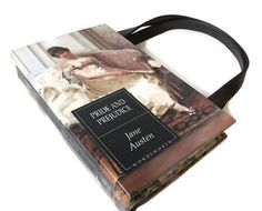 Book Purse Jane Austen Pride and Prejudice Handbag Vintage Book Bag Clutch Fashion Accessories