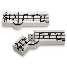 - music staff usb 4gb. #music #flash #usb #memory http://www.pinterest.com/TheHitman14/music-paraphernalia/