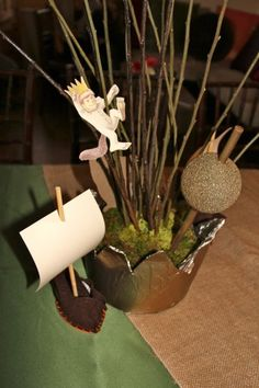 """Where the Wild Things Are"" theme for a baby shower created by Mikaila via www.babyshowerideas4u.com #babyshowerideas4u"