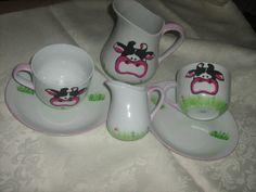 Set colazione   pittura casalinga su ceramica