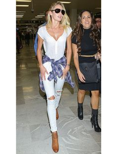 Look We Love: Shirt Tied Around the Waist - Celebrity Style and Fashion from WhoWhatWear