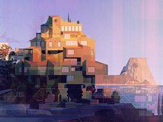 Creative House by James Gilleard #Design Popular #Dribbble #shots