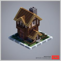 Shared by MCNoodlor. Casa Medieval Minecraft, Minecraft Statues, Minecraft Castle, Minecraft Plans, Minecraft Houses Blueprints, Minecraft House Designs, Minecraft Tutorial, Medieval Houses, Minecraft Crafts