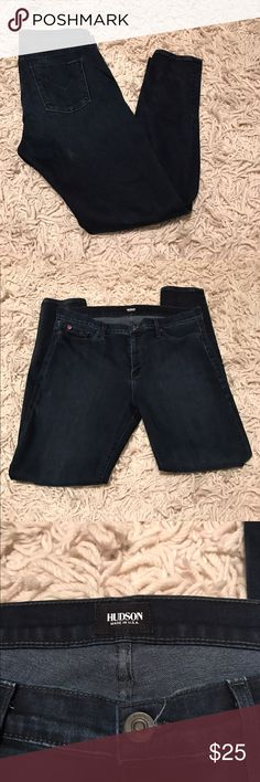 """Hudson dark wash skinnies Hudson dark wash skinnies. Size 32 with 30"""" inseam. In EUC. No signs of wear. Hudson Jeans Jeans Skinny"""