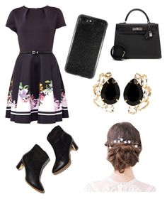 """""""Untitled #21"""" by emi7070 ❤ liked on Polyvore featuring Ted Baker, Hermès and Bounkit"""