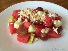 Receta de ensalada de Sandía con queso fresco #receta #saludable #jenué