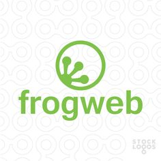#Logo For #Sale: Frog Web - #Purchase logo in: http://stocklogos.com/logo/frog-web
