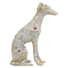 Escultura galgo sentado por silvio alvarez - Westwing.com.br - Tudo para uma casa com estilo