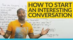 Dont know what to say? Dont worry! In this video, youll learn easy ways to start a good, useful conversation. Youll learn how to choose topics for conversation, and Ill teach you the questions you should ask to start enjoyable and meaningful conversations! Youre going to have fun, improve your English, and make friends! What could be better?