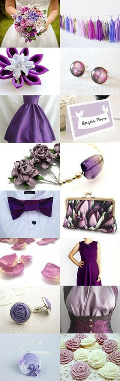 Purple Wedding by Beth Paton on Etsy--Pinned with TreasuryPin.com