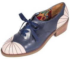 Williamsburg in Navy and Pink   Womens Shoes   Miss L Fire