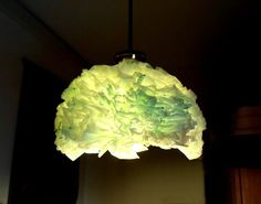 Newspaper + plastic bags — a completely upcycled lamp!
