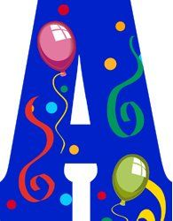 alphabets anniversaires - Page 7 Alphabet Style, Alphabet And Numbers, Big Letters, Monogram Letters, Scrapbook Letters, Different Fonts, Letter Balloons, Girl Themes, Printable Banner