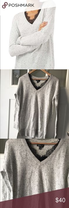 NWT Topshop Lace Tunic sz 2 🎀 I'd love to accept your offer ✨ Bundle to save! Be sure to follow along on Instagram @haleys_hanger 💋 Topshop Sweaters