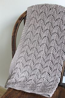 Embarking on my second knit of this blanket for the impending arrival of my bump. Loving the knit and the yarn so far… Did the width recommended in the pattern and 26 pattern repeats. Reall...