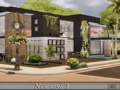 This ultra modern house is very cozy. It will ensure the comfort of your Sims.  Found in TSR Category 'Sims 4 Residential Lots'