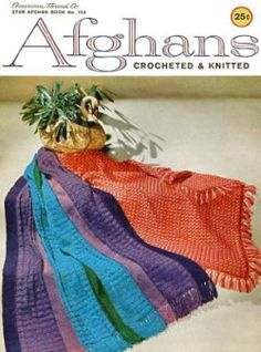 Afghans Crocheted and Knitted - Crochet Pattern Book