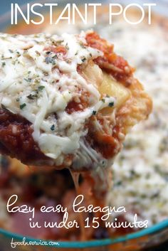This instant pot lasagna is the laziest and easiest way to make one in under 15 minutes! With cheese ravioli instead of lasagna noodles.