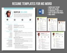 Ms Word Resume Modern Teacher Resume For Ms Word  Pinterest  Teacher And Teacher .