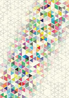 Cuben Split Art Print by Simon C Page | Society6