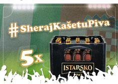"Sheraj kasetu piva (Comparte una caja de cerveza- share a case of beer) otra manera de decir / another way to say:  ""kaseta"" \  ""gajba"" Croatian Language, Flip Clock, Decor, Crates, Decoration, Decorating, Deco"