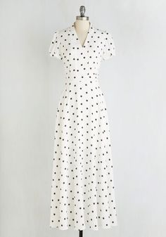 Starry Not Sorry Dress. Your style has always been unapologetically awesome, and this white maxi dress is coolly consistent with your ways! #multi #modcloth