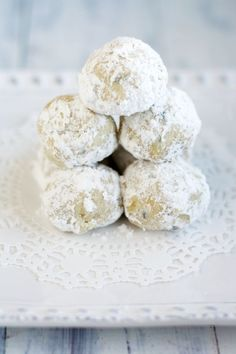 Easy, delicious, vegan, GF, and allergy friendly snowball cookies!