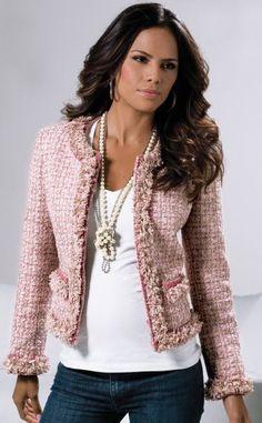 Damen jacke im chanel stil