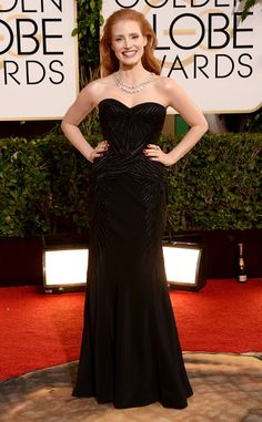 Jessica Chastain from 2014 Golden Globes: Red Carpet Arrivals | E! Online